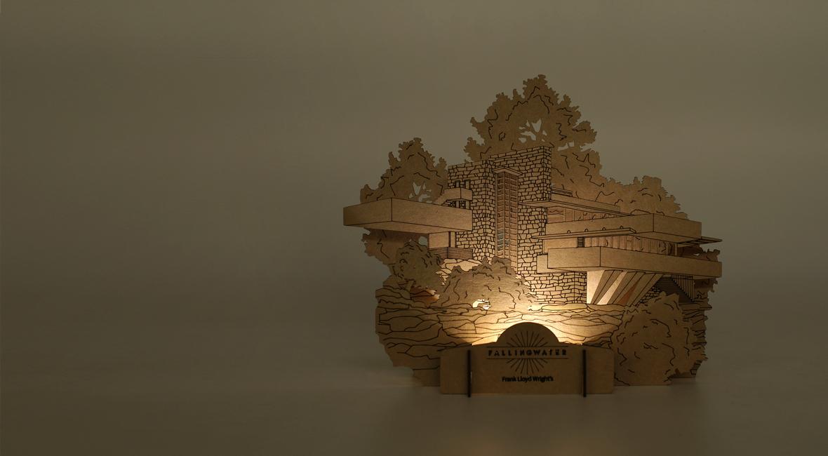 Craft Lights for Frank Lloyd Wright\'s FallingWater – FUNNYFISH ...
